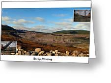 Strip Mining - Environment - Panorama - Labrador Greeting Card
