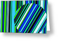 Striped Circle  C2014 Greeting Card