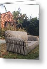 Striped Couch I Greeting Card