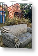 Striped Couch II Greeting Card