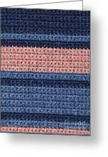 Striped Crochet Cloth Greeting Card