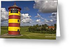 Striped Lighthouse Greeting Card