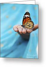 Striped Tiger Butterfly Greeting Card