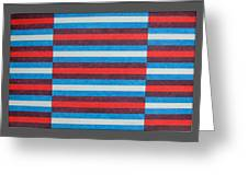 Striped Triptych No.2.03 Greeting Card