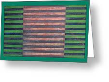 Striped Triptych No.5.03 Greeting Card