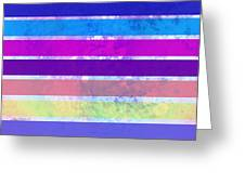 Stripes Abstract Art Greeting Card
