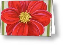 Stripes-dahlia II Greeting Card