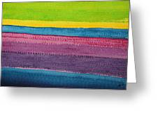 Stripes Original Painting Greeting Card