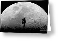 Stripper On The Moon Greeting Card