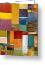 Strips And Pieces Ll Greeting Card by Michelle Calkins