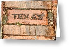 Stroll Down Texas Lane Greeting Card