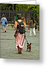 Strolling In Jackson Square Greeting Card