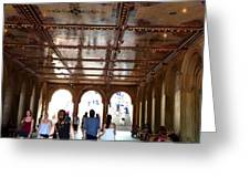 Strolling Through The Arches Greeting Card