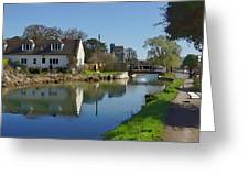 Stroudwater Canal Stonehouse Greeting Card