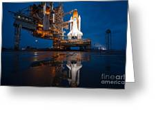 Sts 135 Atlantis Prelaunch Greeting Card