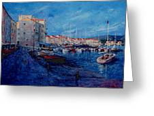 St.tropez  - Port -   France Greeting Card by Miroslav Stojkovic - Miro