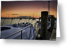 Stuart Marina At Sunset Greeting Card