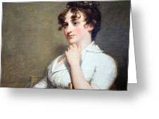 Stuart's Eleanor Parke Custis Lewis Or Mrs. Lawrence Lewis Greeting Card