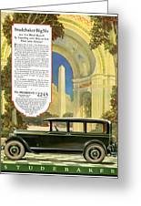 Studebaker Big Six - Vintage Car Poster Greeting Card