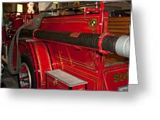 Studebaker Fire Truck Greeting Card