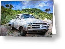 Studebaker Goes To The Beach Greeting Card