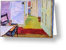 Studio Space, Ivor Street, Nw1 Oil On Canvas Greeting Card