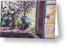 Studio Window Greeting Card