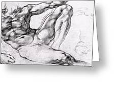 Study For The Creation Of Adam Greeting Card