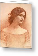 Study For The Lady Clare Greeting Card