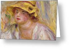 Study Of A Girl, C.1918-19 Greeting Card