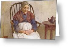 Study Of An Elderly Lady Greeting Card