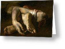 Study Of Feet And Hands, C.1818-19 Oil On Canvas Greeting Card