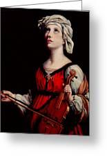 Study Of St. Cecelia Greeting Card