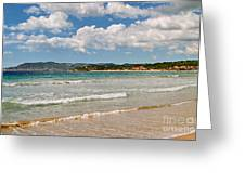 Stunning Clouds Over Cote Dazur Greeting Card