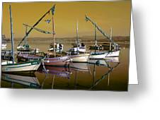 Stunning Fishing Port Greeting Card
