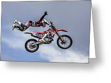 Stunt Rider Greeting Card
