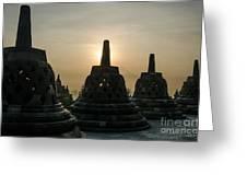 Stupah At Borobudur Greeting Card