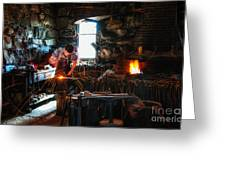 Sturbridge Village Blacksmith Greeting Card