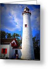 Sturgeon Point Lighthouse Michigan Greeting Card
