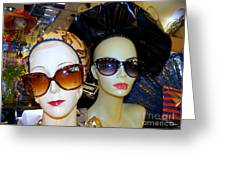 Stylin In Shades Greeting Card