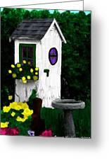 Stylish Outhouse Greeting Card