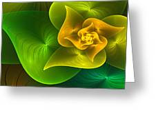 Stylized Philodendron Greeting Card