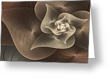 Stylized Philodendron Sepia Greeting Card