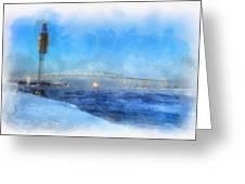 Sub-zero Blue Water Greeting Card