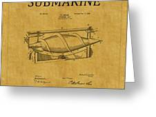 Submarine Patent 3 Greeting Card