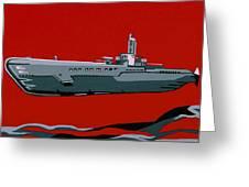 Submarine Sandwhich Greeting Card