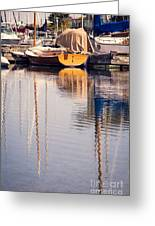 Subtle Colored Marina Reflections Greeting Card