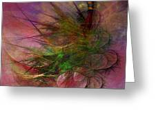 Subtle Echoes - Square Version Greeting Card