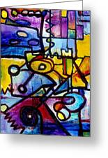 Suburbias Daily Beat Greeting Card by Regina Valluzzi