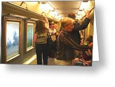 Subway Art Greeting Card